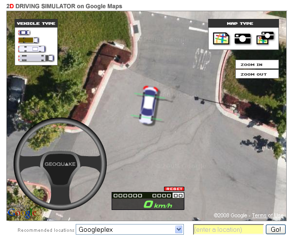 Drive Car On Google Map