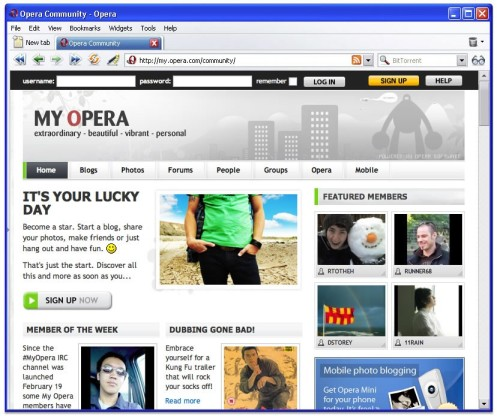Opera USB full screenshot