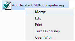 Add Elevated CMD to Computer