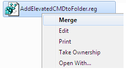Add Elevated CMD to Folder