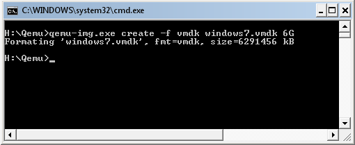 Create Windows 7 Virtual Disk using Qemu