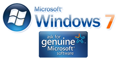 Genuine Windows 7 Beta 1 Logo