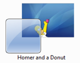 Homer and a Donut