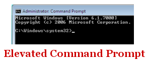 Windows 7 Elevated Comand Prompt