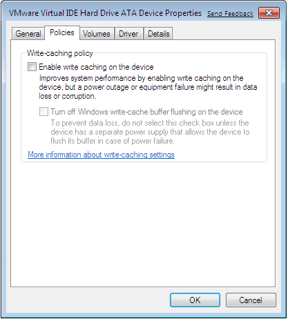 Windows 7 Enable Write Caching on Drive