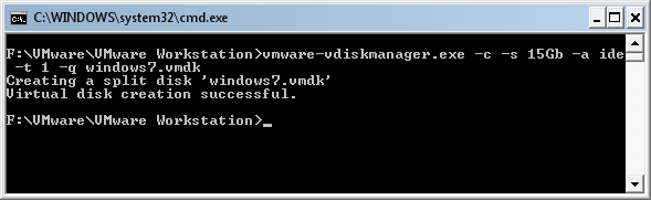 Windows 7 Vmware Virtual Disk using vmware-vdiskmanager