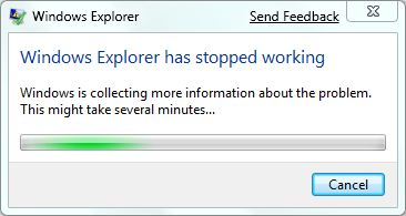 windows explorer stopped working      Windows Explorer  ?   ?  