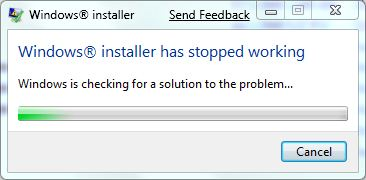 windows installer stopped working      Windows Explorer  ?   ?  