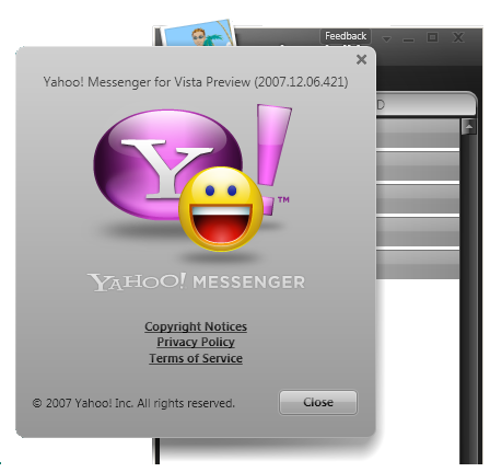 Yahoo Messenger 10 Or Yahoo Messenger For Vista Preview