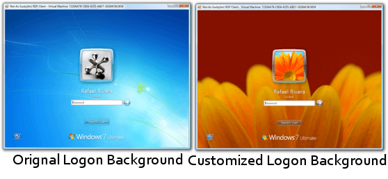 Windows 7 now supports the ability to load images into the background of the