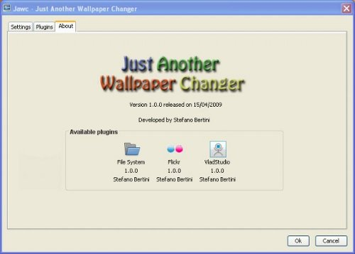 wallpaper changer freeware. Screenshot of JAWC (Just Another Wallpaper Changer)