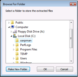 Create Folder oarpman