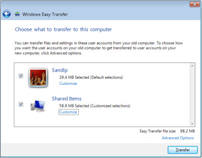 Transfer Files to Windows 7