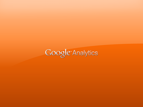 Google Analytics Orange Shiny Wallpaper