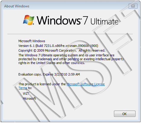 windows 7 build 7231