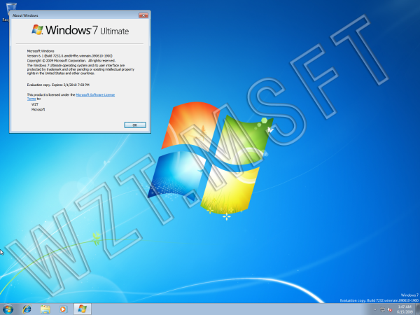 screenshot Microsoft windows 7 seven VHD 1.0 1