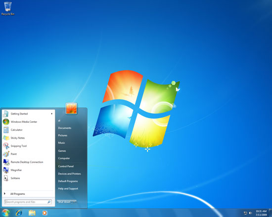 Full Windows 7 screenshot