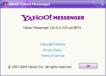 Yahoo Messenger 10 Beta About