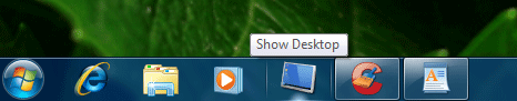 Show Desktop Pinned on Taskbar