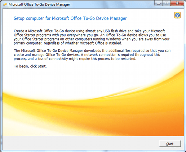 Microsoft Office To-Go Device Manager