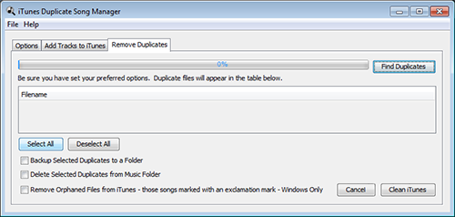 iTunes Duplicate Song Manager