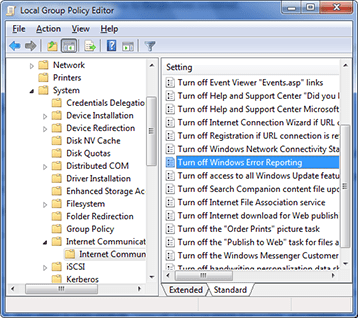 Windows 7 Local Group Policy Editor