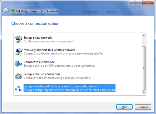 Windows 7 Starter Adhoc Wifi