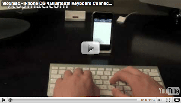 using a full sized Bluetooth keyboard on the iPhone or iPod Touch would