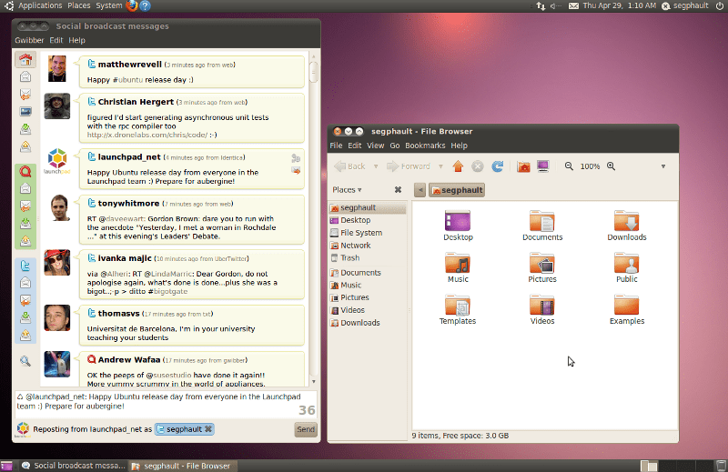 Ubuntu Lucid Lynx 10.04 screenshot