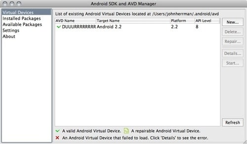 Android 2.2 Froyo Emulator for PC and Mac OS X5