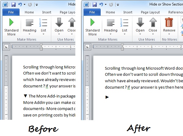 Microsoft Word More Add-in in Action