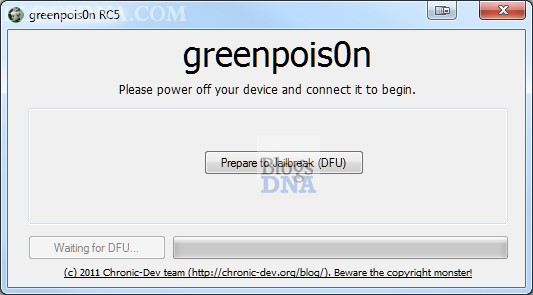Cài đặt 3g  Greenpois0n RC5 B2 for Windows Hướng dẫn jailbreak Greenpois0n RC6 Final cho iOS 4.2.1 Window & Mac