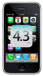 iPhone 3G iOS 4.3