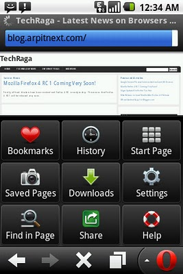 Opera Mobile 11 for Android