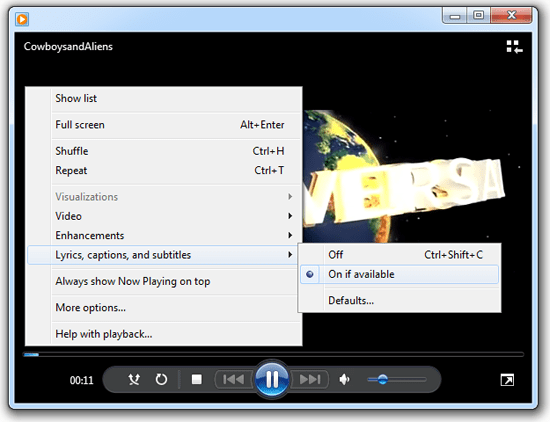How to add subtitles to windows media player and vlc media player the video will play ccuart Image collections