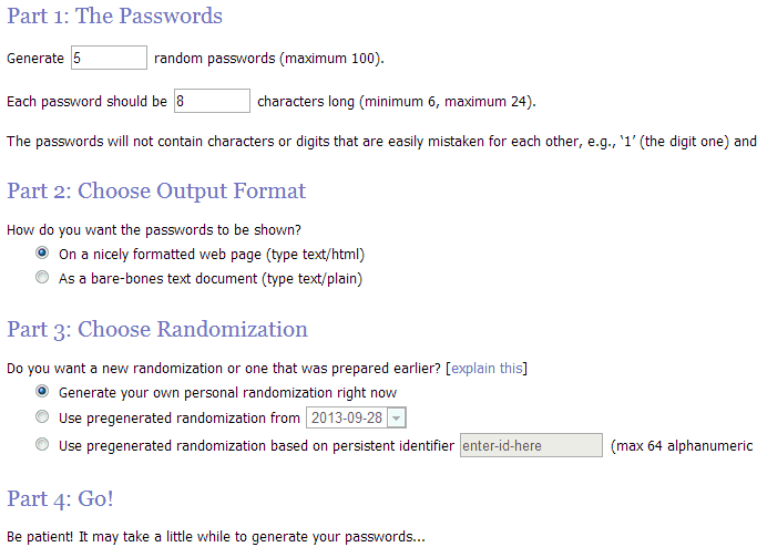 Password Generators 5 Random.org Password Generator 1