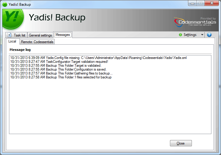 how to automatically create local backup