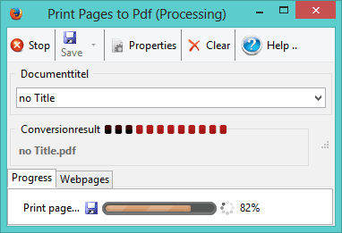Print pages to PDF 1