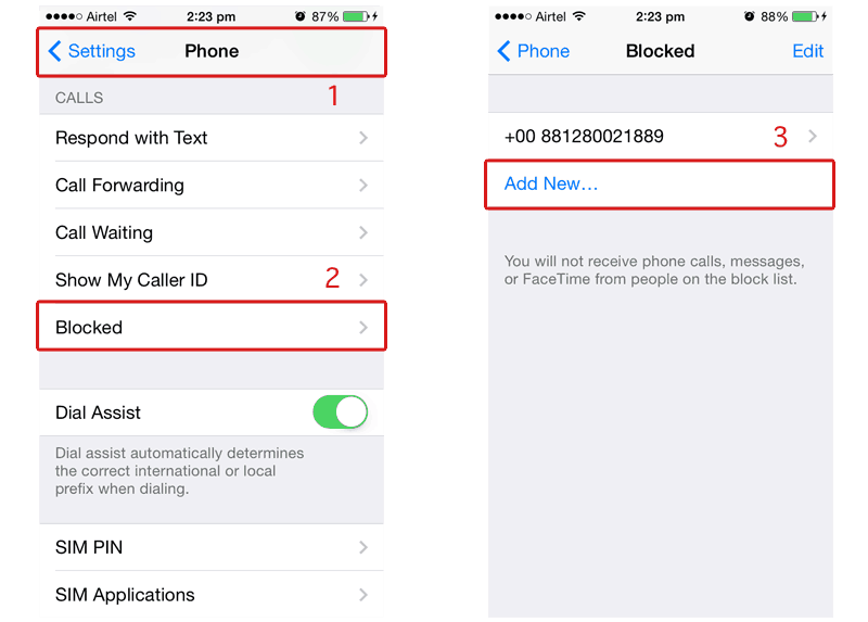 iPhone Block Caller