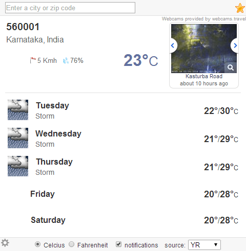weather (extension)