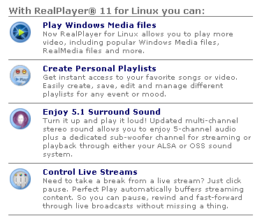 Real Player 11 For Linux Features