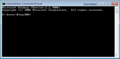 Windows 7 Normal User Command Prompt