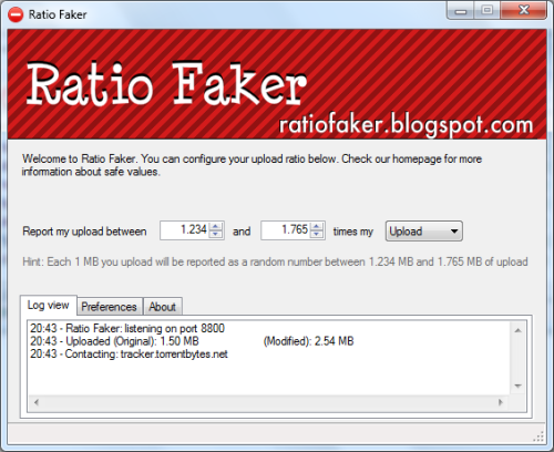 Ratio Faker Boost Bittorrent Upload Ratio