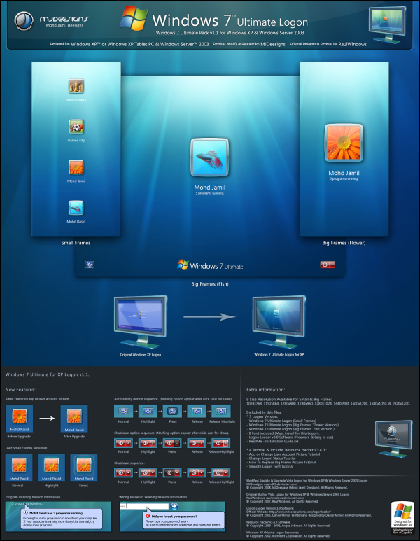 Windows 7 Logon Pack for Windows XP
