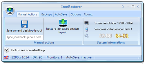IconRestorer Manual Action