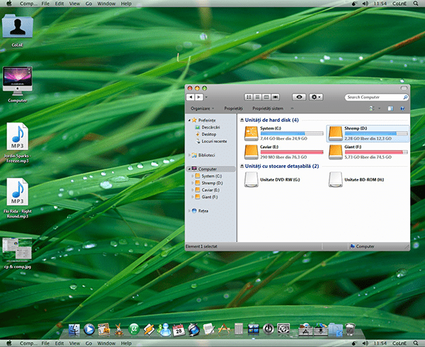 Windows 7 RC Transformed into Mac Os X Leopard