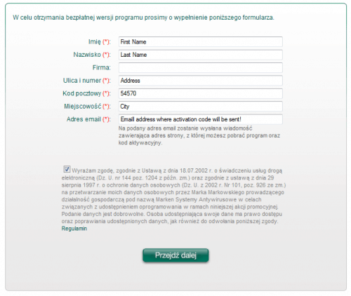 kaspersky Antivirus 2010 Fill Form