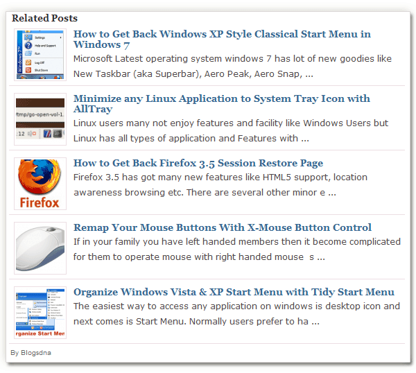 Wp-Thumbie Thumbnail Related Posts