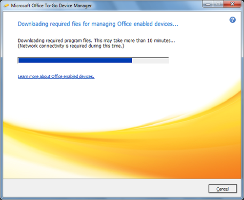 Microsoft Office To-Go Device Manager Downloading