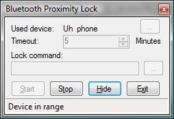 Bluetooth Proximity Lock